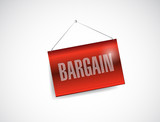 bargain hanging sign illustration design
