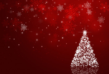 Red Xmas Decoration Background