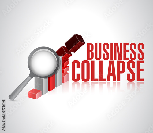 business collapse sign illustration design