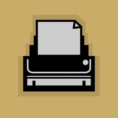 Printer icon or sign, vector illustration