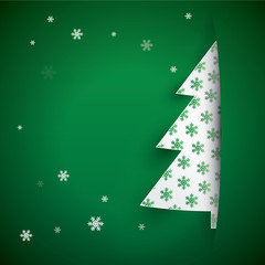 Christmas greeting green background