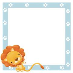marco con león