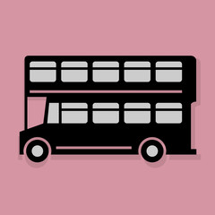 London bus icon or sign, vector illustration