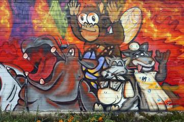 künstlerisches Graffito am Kölner Zoo