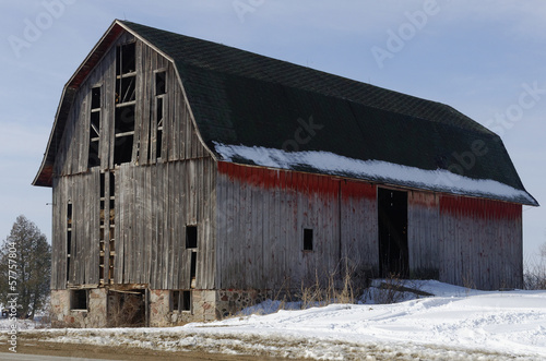 Fading Red Barn