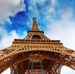 View at foot of Eiffel Tower.Paris,France