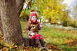 cute toddler in fall time