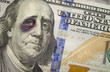Black Eyed Ben Franklin on New One Hundred Dollar Bill