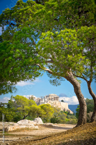 Staande foto Athene Beautiful view of ancient Acropolis, Athens, Greece