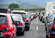 canvas print picture - Autobahnstau Rückreiseverkehr Autos Stau