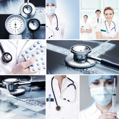 Collection of medical images with hospital workers