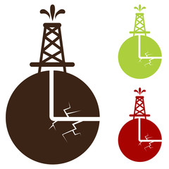Hydraulic Fracturing Icon