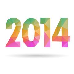 Happy New Year 2014, vector illustration