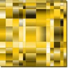 goldenes Mosaik halbtransparent