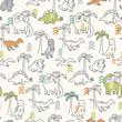 Dinosaur Pattern - 57762275
