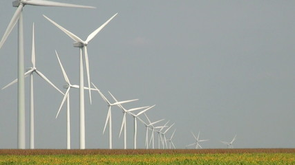 Large wind farm in central Indiana