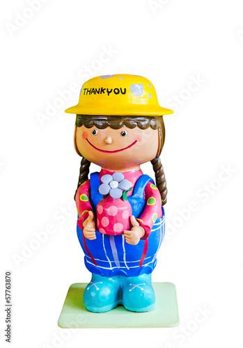 greeting ceramic doll