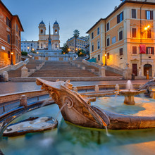Place d'Espagne, au crépuscule, Rome
