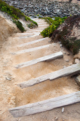 stairs in the beach
