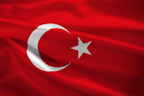 Turkey flag blowing in the wind