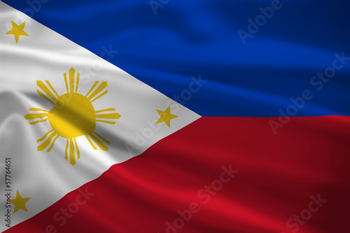 The Philippines flag blowing in the wind