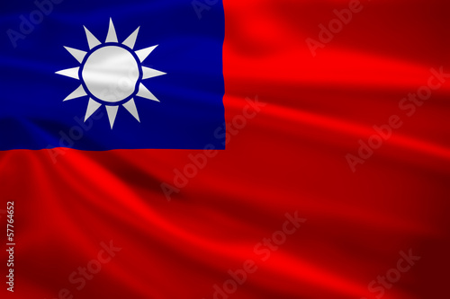 Republic of China flag blowing in the wind