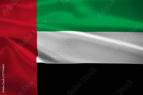United Arab Emirates flag blowing in the wind