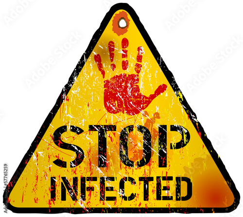 computer virus alert sign, vector eps 10