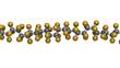 Polytetrafluoroethylene (PTFE) polymer, chemical structure