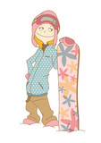 SnowBoarder_Woman