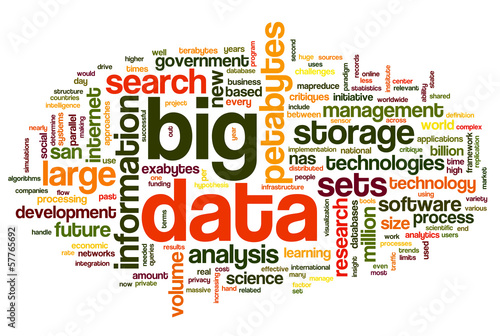 Big data concept in word cloud