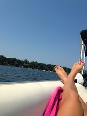 Lazy summer boating