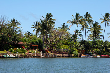 Beautiful Waterfront Home on Wailua River Kauai Hawaii