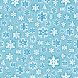 Seamless Snowflake Pattern Background