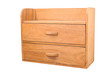 Small wooden cabinet isolated