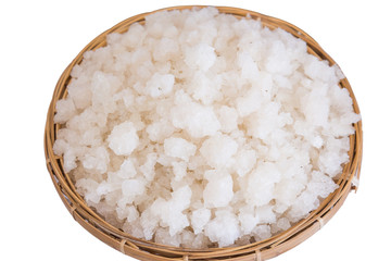 Sea salt in the hod isolated
