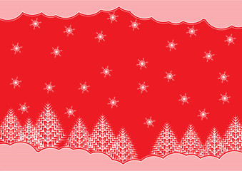 Vector christmas background at engraving  style