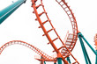 A segment of a roller coaster ,isolated - 57767454