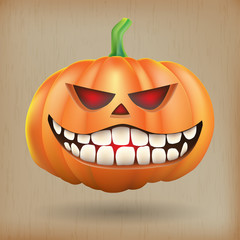 Sneer pumpkin vintage background