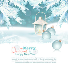 Merry Christmas & New Year Celebration Background