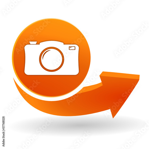 photo sur bouton web orange