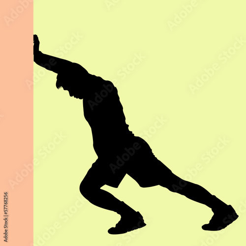 Warm Up Silhouette vector