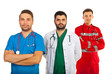 Happy team of doctors