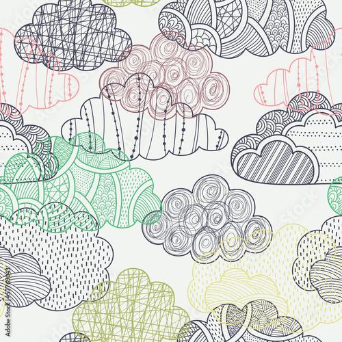 Clouds seamless pattern - 57769043