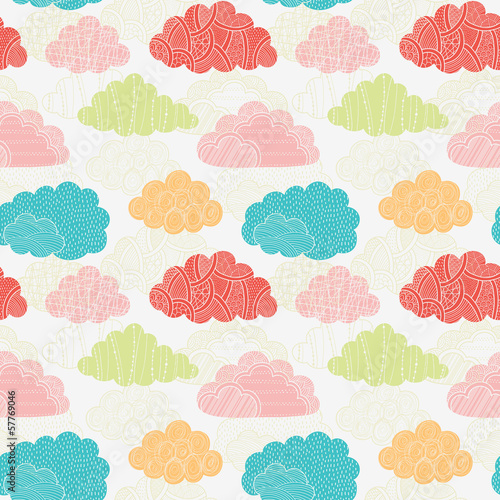 Clouds seamless pattern - 57769046
