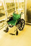 Wheelchair service in airport terminal