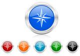 compass icon vector set