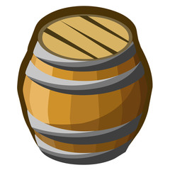wooden barrel isolated illustration