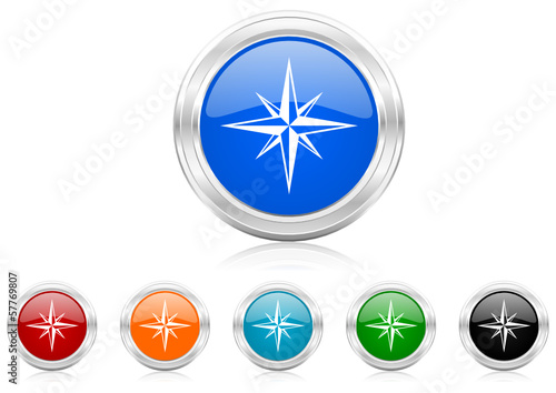 compass icon vector set