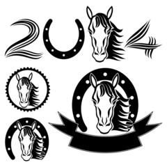 Horse signs.
